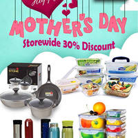 Lock & Lock will be having a Mother's Day promotion for 3 days only (6 - 8 May)! Get mom's favorite cookware, kitchenware and more at a 30% off discount storewide at their flagship store at Jem.