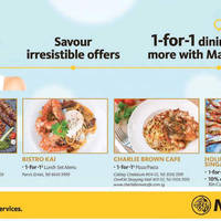 Read more about Maybank 1-for-1 Dining Deals & More from 1 May - 31 Jul 2016