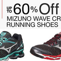 Save 60% Off Mizuno Wave Creation 17 Running Shoes for men and women. Lightweight and breathable, these shoes are designed to cushion the feet over miles of track or pavement.