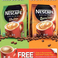 Get a free NESCAFE Red Mug with 2 packs purchase of NESCAFE 25% Less Sugar or/and NESCAFE Zero Sugar Added. Grab a personalized NESCAFE Smiley Mug at the below roadshows (Sat/Sun only):
