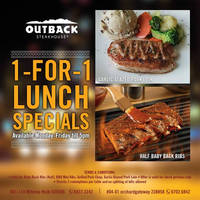 Read more about Outback Steakhouse 1-for-1 Lunch Weekday Specials From 11 May 2016