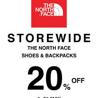 Got some gear that needs replacing? Enjoy 20% off The North Face, shoes and backpacks at Outdoor Life stores.