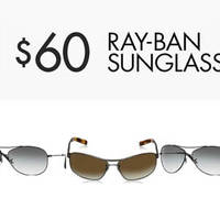 Get Ray-Ban sunglasses for men and women for just US$60. Find Ray-Ban Sunglasses for men and women marked down to $60. Eligible for free shipping to Singapore with $125 worth of qualifying products.