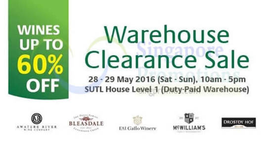 SUTL Wines Warehouse Feat 27 May 2016