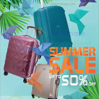 Samsonite has started their Summer sale from 27 May 2016, featuring discounts of up to 50% off