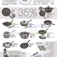 Enjoy 35% OFF all regular priced Scanpan Denmark items at ISETAN Scotts (Household Dept, L4) from 6 - 17 May '16