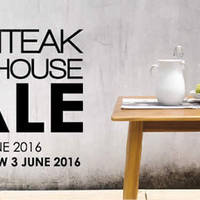 Save up to 70% OFF teak furniture at the Scanteak Warehouse Sale from 3 June to 5 June 2016