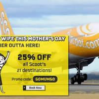 Read more about Scoot 25% Off ALL Scoot Destinations Promo Code from 5 - 8 May 2016