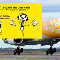 Escape the ordinary with Super Scootee. Fly to Kaohsiung, Jaipur, Sydney, Nanjing, Bangkok, Osaka & more from $50 (all-in fare)