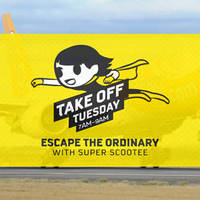 Escape the ordinary with Super Scootee promo fares from $50 all-in on 24 May, 7am to 9am