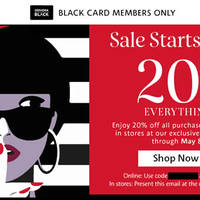 Read more about Sephora 20% Off Everything Coupon Code for Black Card Members from 5 - 8 May 2016