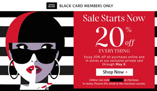 Sephora coupon code 20 off