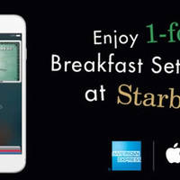 Read more about Starbucks 1-for-1 Breakfast Sets with American Express Apple Pay from 11 May - 15 Jun 2016
