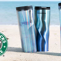 Make waves with these tumblers and cold cups that come in shades of blue, purple and aqua. Available from 30 May.