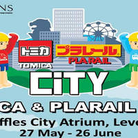 Tomica & Plarail City will be having a event at Raffles City Level 3 Atrium from 27 May to 26 June 2016. Join in for a month of fun filled activities with Tomica and Plarail! Enjoy special buys, event exclusive merchandises, games and much more!
