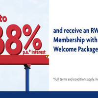 Get up to 1.38% p.a.* interest (total interest rate). Plus deposit Fresh Funds of S$100,000 and receive a complimentary One-Year RWS Invites Silver Membership with UOB Exclusive Welcome Package*^ (worth S$356).