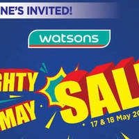 Read more about Watsons Mighty May Sale from 17 - 18 May 2016