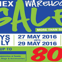 Yonex will be having a Warehouse Sale from 27 May to 29 May 2016 at 38E Jalan Pemimpin. The sales features over 500 apparel, badminton and tennis racquets, bags, footwear and accessories going at up to 80% off.