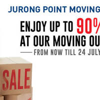 John Little is having a Moving Out Sale at their Jurong Point store. Everything must go starting from 1 June till 24 July 2016. Enjoy discounts of up to 90% off!