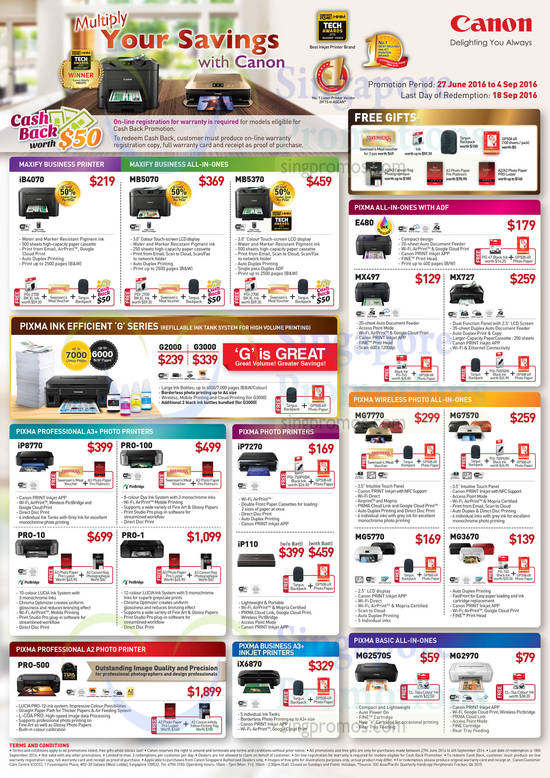 Maxify, Pixma, Professional, Wireless Photo, Inkjet, Basic