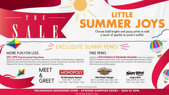 Takashimaya Childrens Sale Feat 10 Jun 2016
