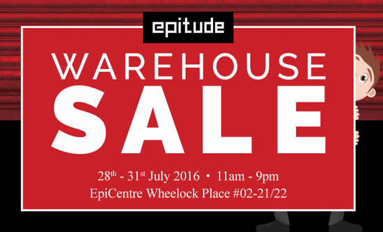 EpiCentre Warehouse Sale Feat 27 Jul 2016