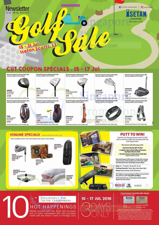 Golf Sale Coupon