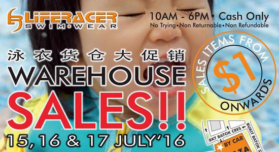 Liferacer Warehouse Sale Feat 13 Jul 2016