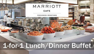 Marriott Cafe: 1-for-1 lunch/dinner buffet for DBS/POSB cardmembers from 17 Mar – 30 Apr 2017