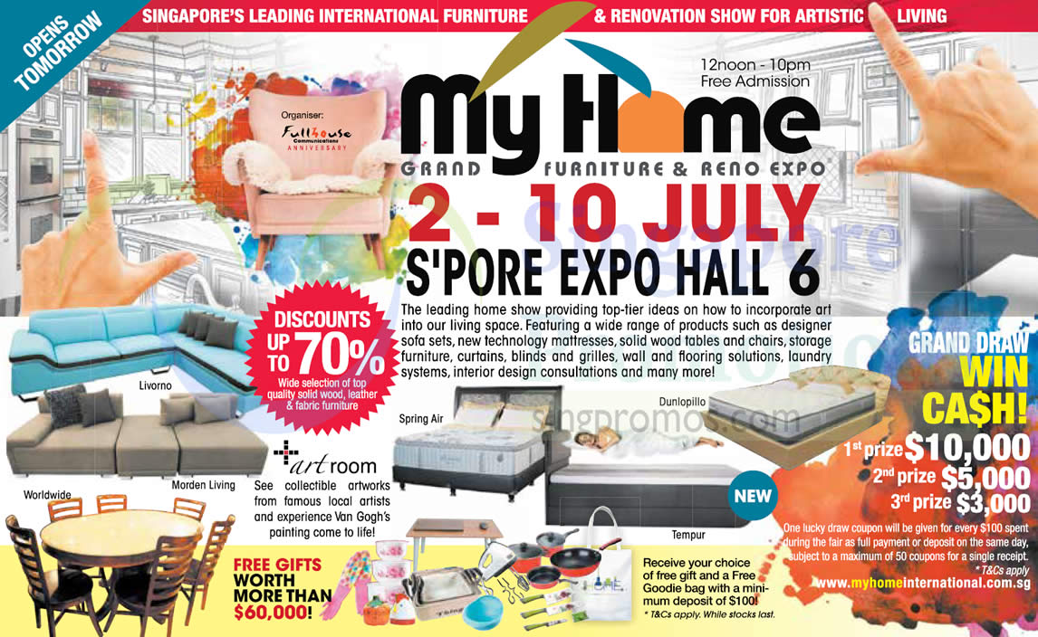 My Home Grand Furniture Reno Expo From 2 10 Jul 2016