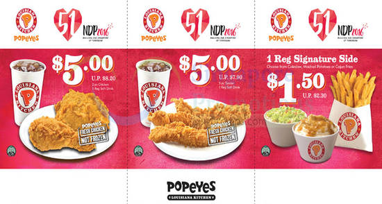 Popeyes Coupon Deals Feat 21 Jul 2016