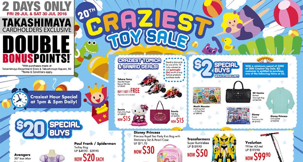 Takashimaya Craziest Toy Feat 29 Jul 2016