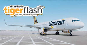 Tigerair's 24hr FLASH sale features fares fr $34 all-in to 34 destinations! Book from 22 – 23 Jun 2017