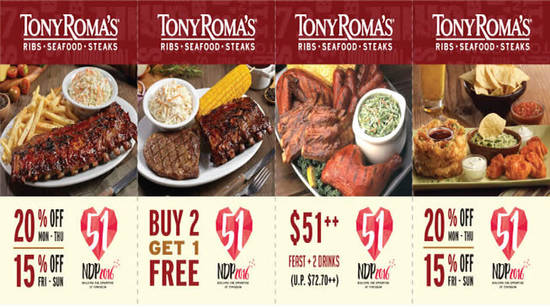 Tony Romas Feat 21 Jul 2016