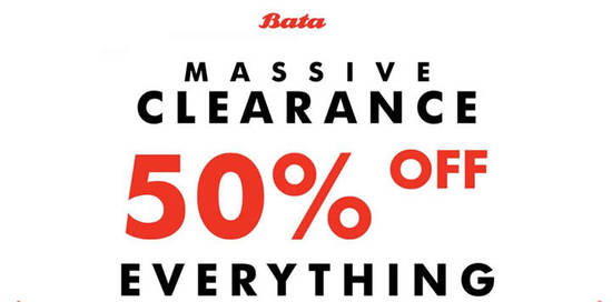 Bata Massive Clearance Feat 10 Aug 2016