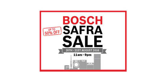 Bosch SAFRA Sale 19 Aug 2016