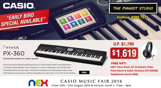 Casio Digital Piano Feat 11 Aug 2016