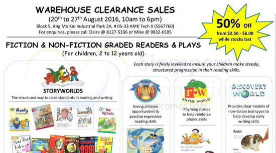 Childrens Books Warehouse Feat 20 Aug 2016