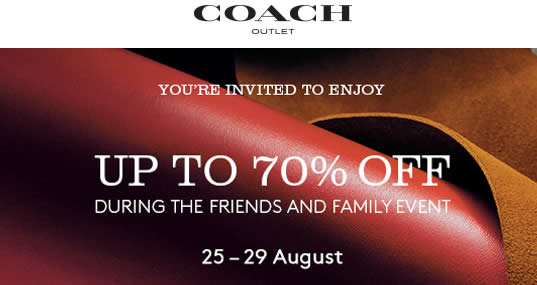 Coach Friends Family Feat 26 Aug 2016