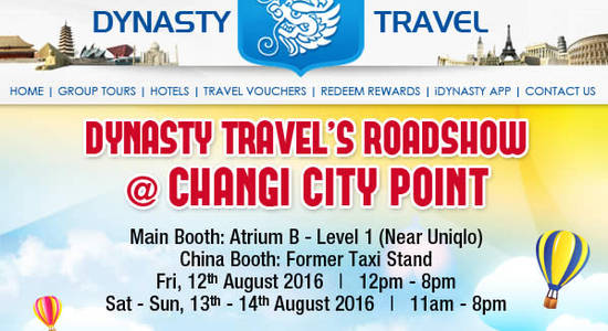 Dynasty Travel Feat 10 Aug 2016