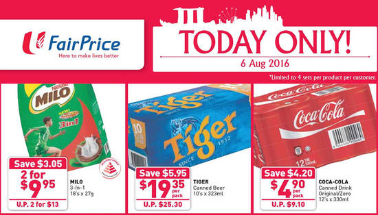 FairPrice 1Day Only Feat 6 Aug 2016