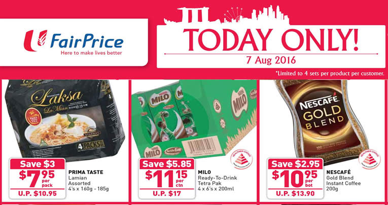 FairPrice 1Day Only Feat 7 Aug 2016