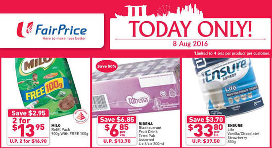 FairPrice 1Day Only Feat 8 Aug 2016