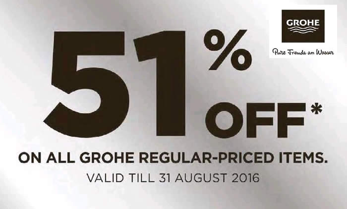 Grohe 50 Off Feat 6 Aug 2016