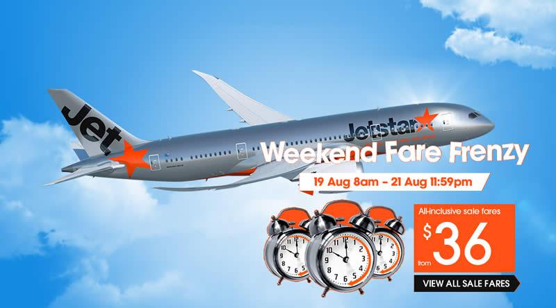Jetstar Fares fr 19 Aug 2016