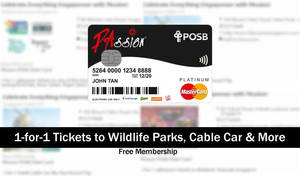 POSB: 1-for-1 Tickets to Zoo, Jurong Bird Park, Cable Car & More on 10 Dec 2016