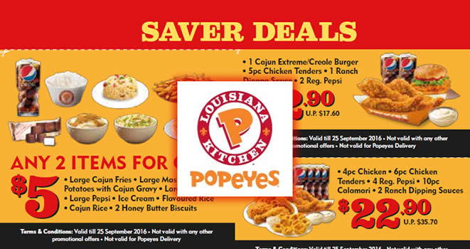 Popeyes Dinein Discount Feat 22 Aug 2016