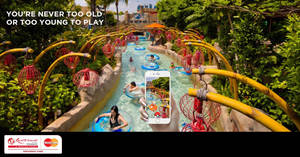 Enjoy 50% off the second RWS Adventure Cove Waterpark ticket from 5 – 31 Dec 2016