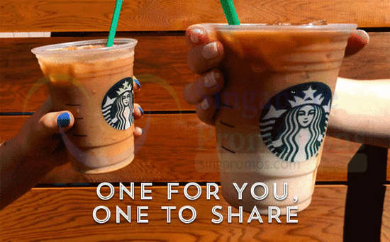 Starbucks 1for1 Frappuccino 29 Aug 2016