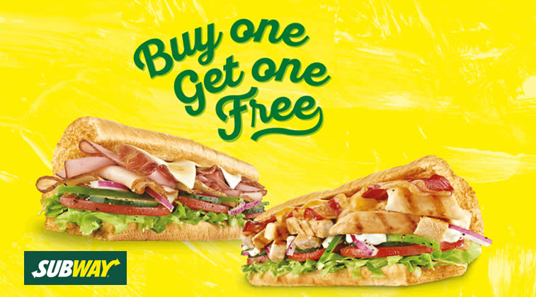 Subway 1for1 Feat 8 Aug 2016
